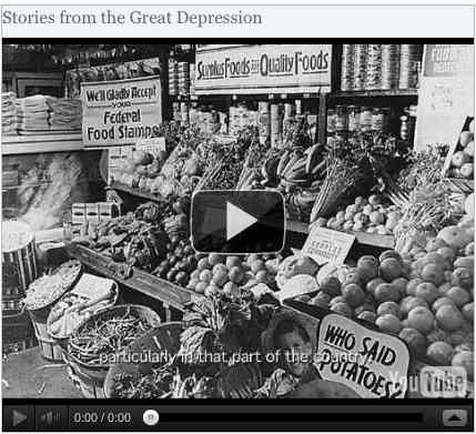 Image to go with video of: Stories from the Great Depression