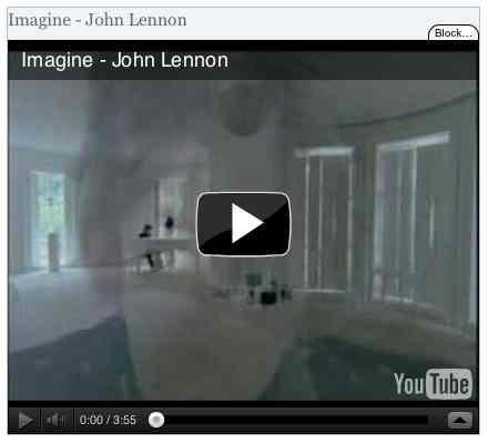 Image to go with video of: Imagine - John Lennon