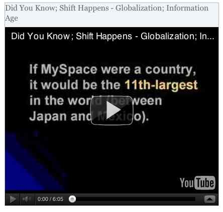 Image to go with video of: Did You Know; Shift Happens - Globalization; Information Age