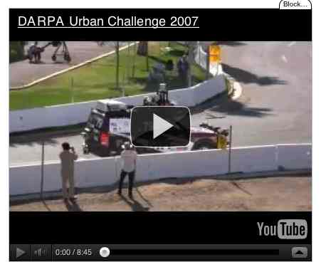Image to go with video of: DARPA Urban Challenge 2007