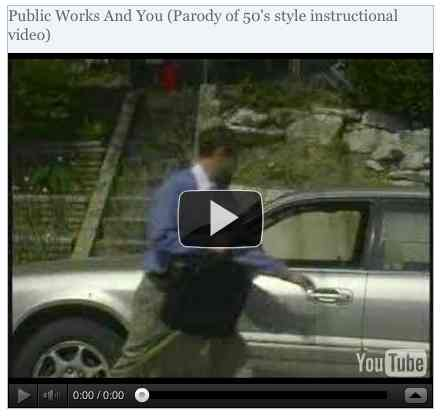 Image to go with video of: Public Works And You (Parody of 50's style instructional video)