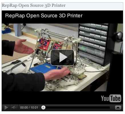 Image to go with video of: RepRap Open Source 3D Printer