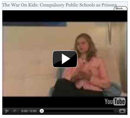 Image to go with video of: The War On Kids: Compulsory Public Schools as Prisons
