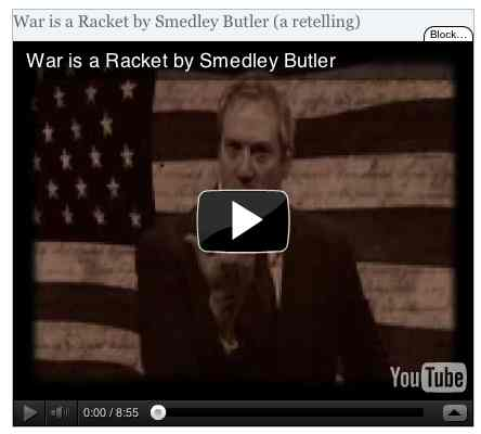 Image to go with video of: War is a Racket by Smedley Butler (a retelling)