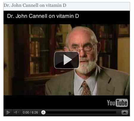 Image to go with video of: Dr. John Cannell on vitamin D