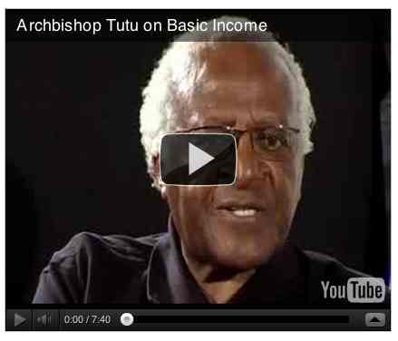Image to go with video of: Archbishop Tutu on Basic Income